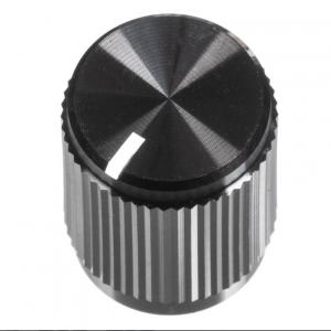 black metal knob
