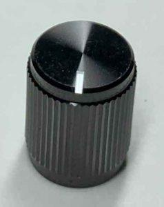 small black metal knob